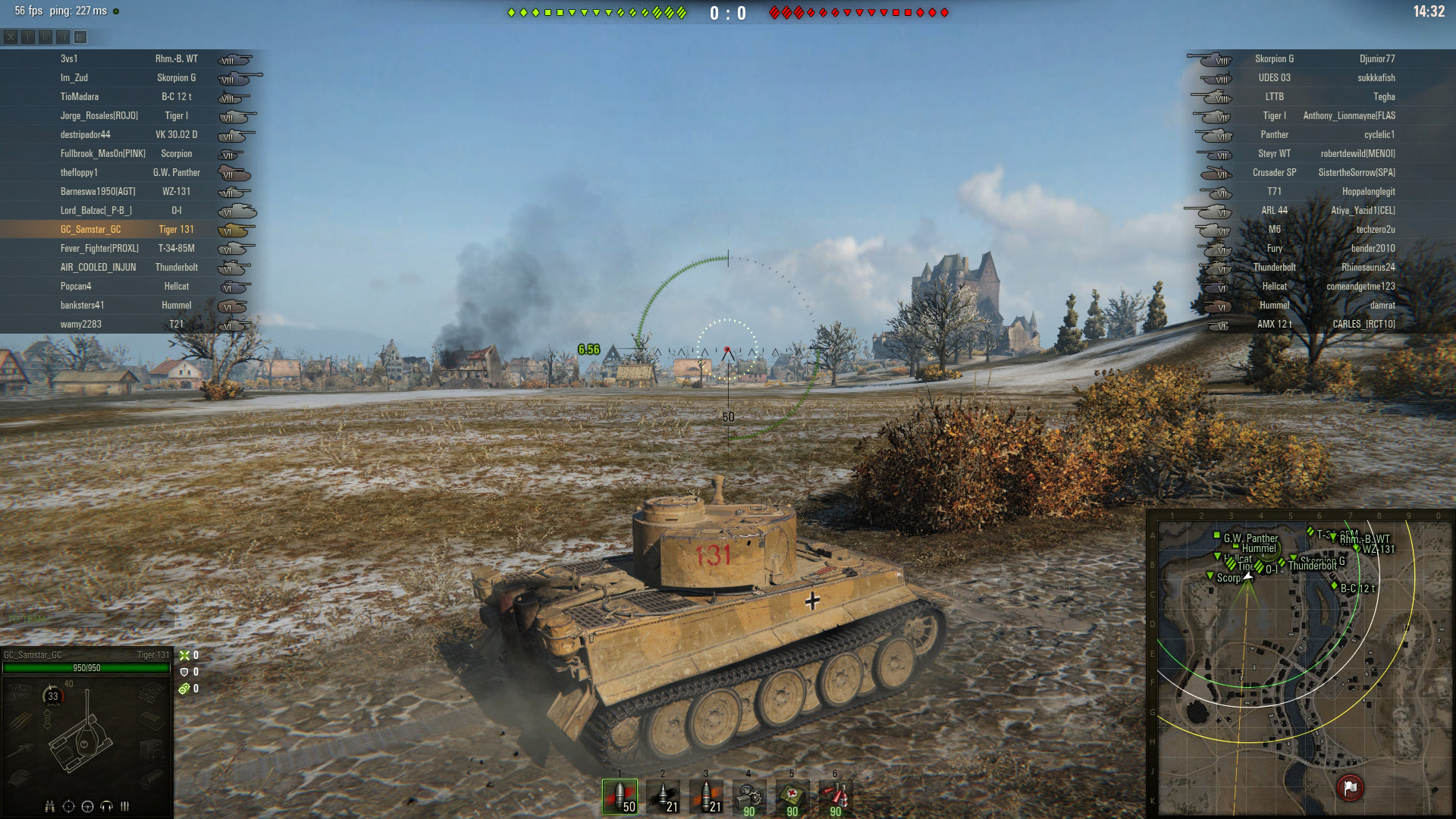 The Tiger 131 is able to quickly get into position at the start of the match thanks to its impressive speed.