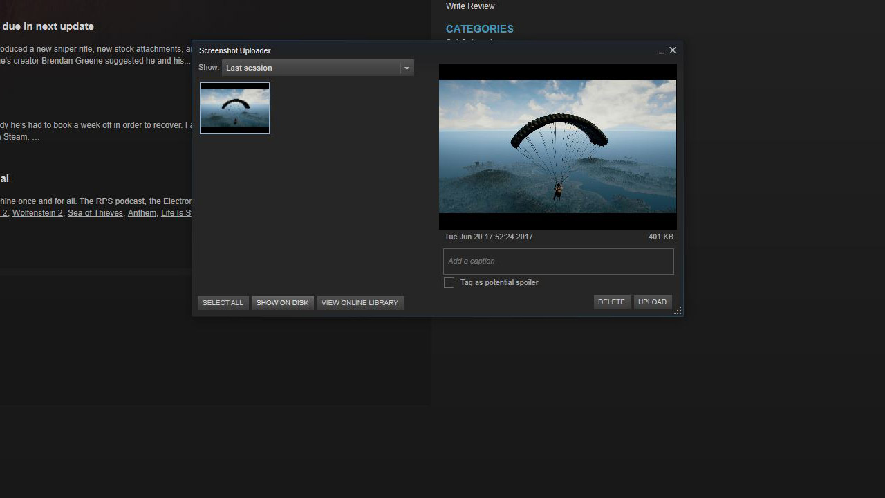 View and then Screenshots in Steam will show you all in-game images you've captured.