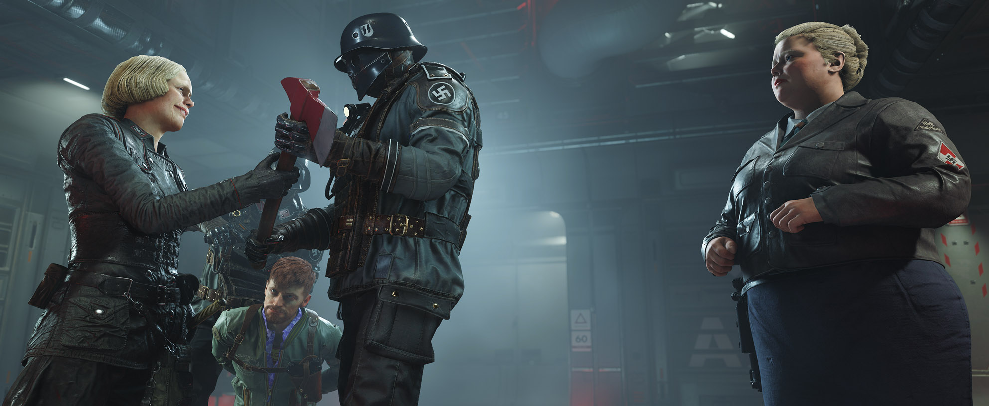 In Wolfenstein: The New Colossus, Irene Engle is back, and she appears to be very upset with Blazkowicz.