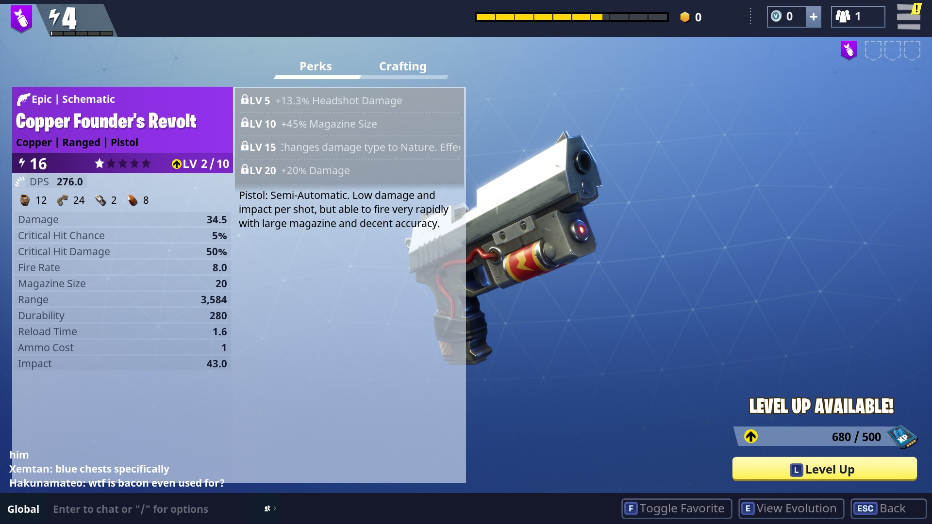 when you collect enough schematic xp you can use them to level up your favorite - how do you earn xp in fortnite