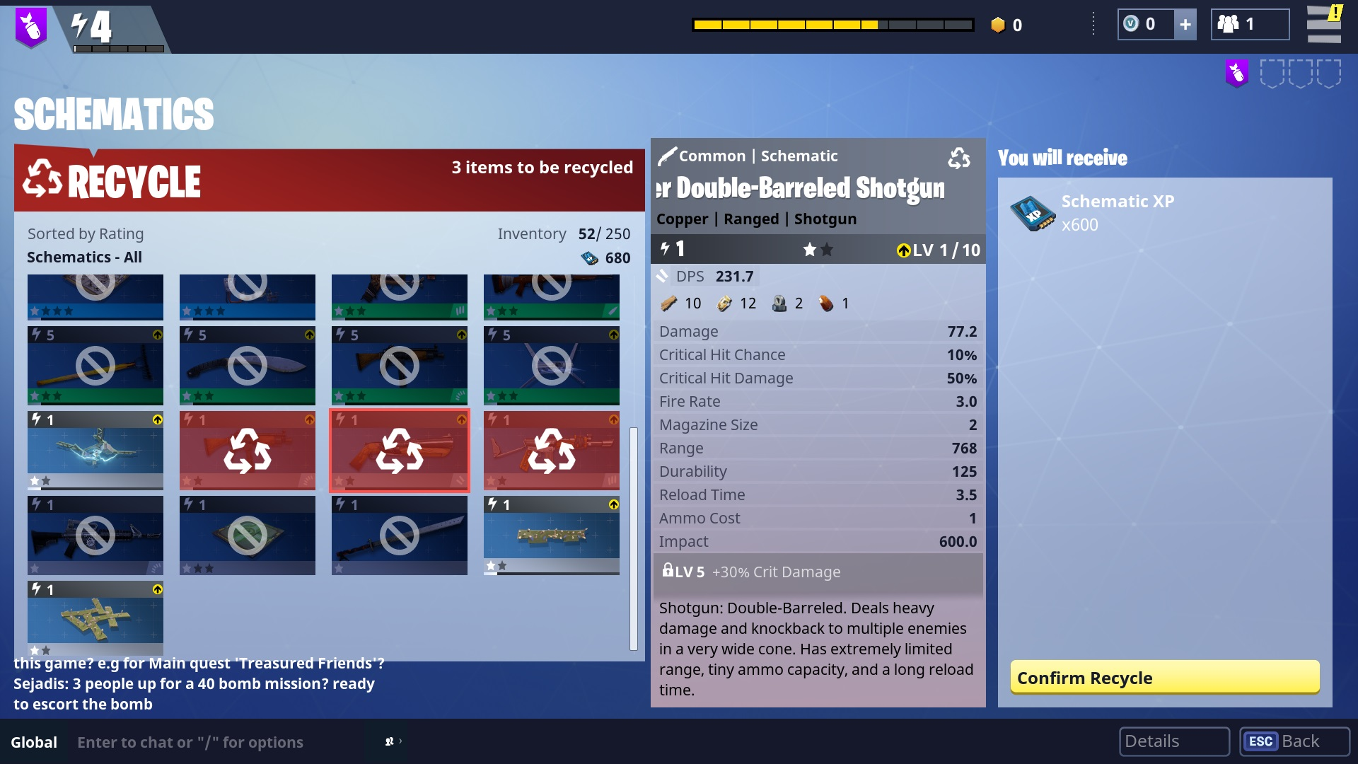 Fortnite How To Craft Weapons Using Schematics Allgamers Xbox 360 Inside Diagram Recycling