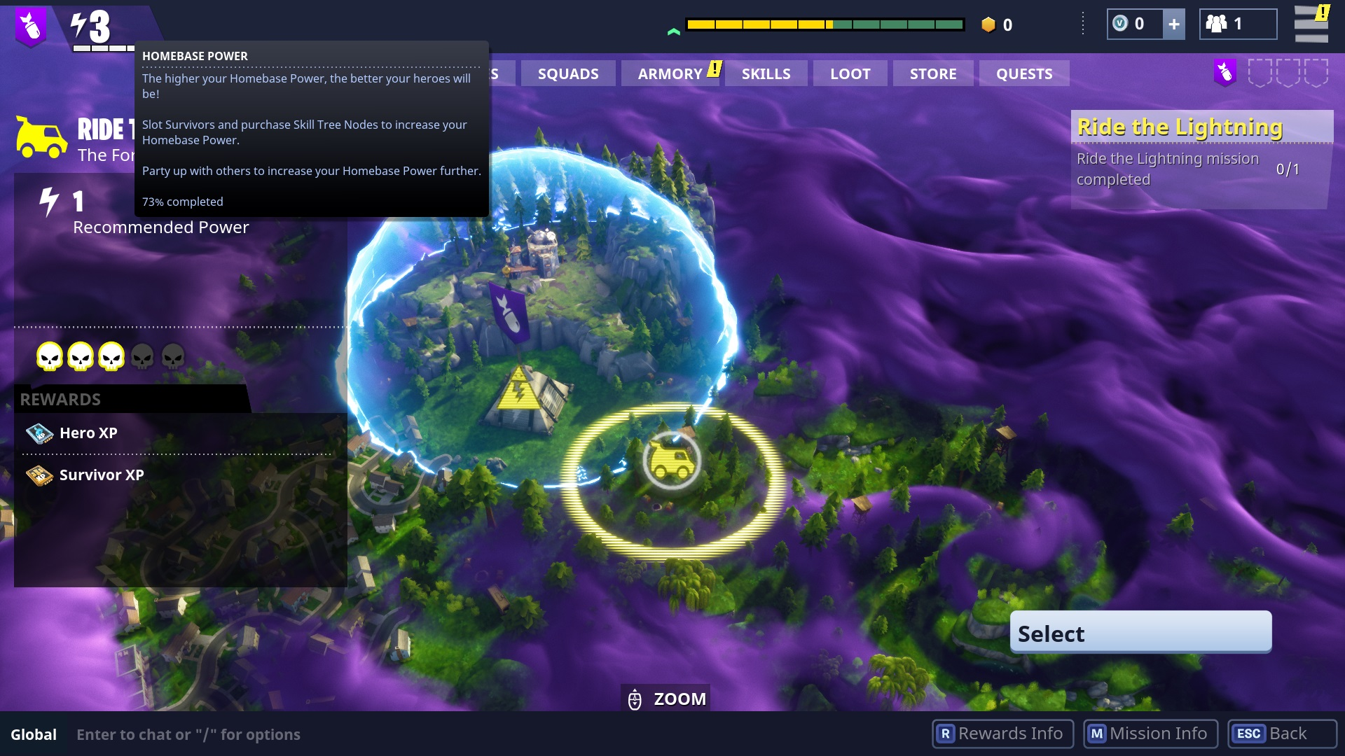 your homebase power level in fortnite - how to chat in fortnite