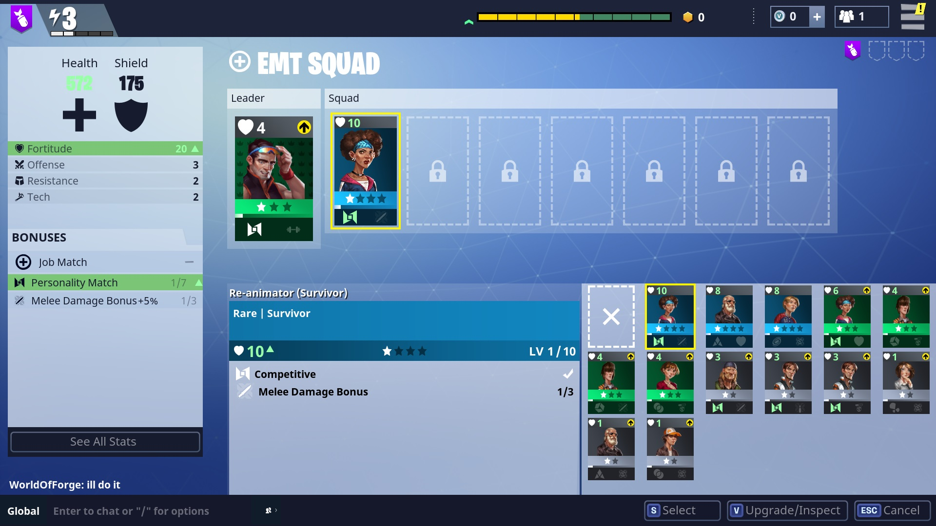 match squad members with the leader s personality type to increase your squad rating - fortnite xbox one rating