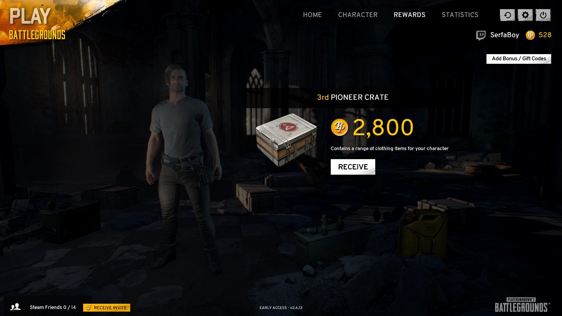 Battlegrounds Bonus Code