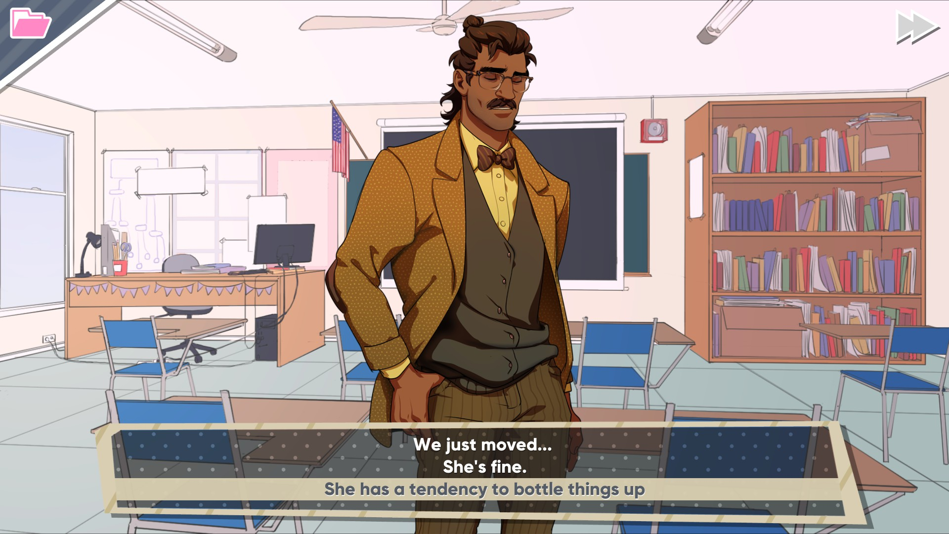 7892ebaf5 The first step towards getting on Hugo's good side in Dream Daddy is  opening up to
