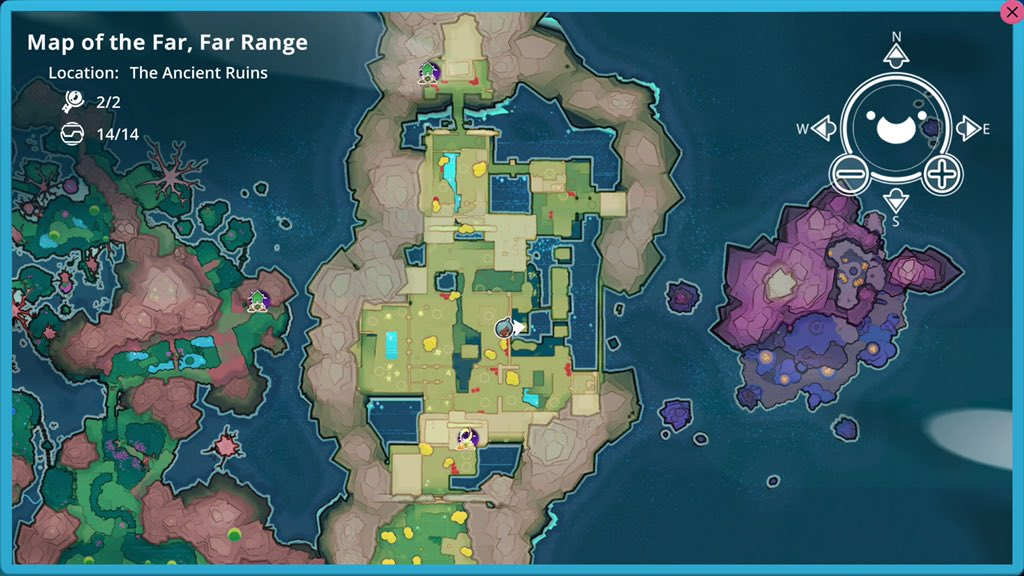 Ancient Ruins Map Node location in Slime Rancher