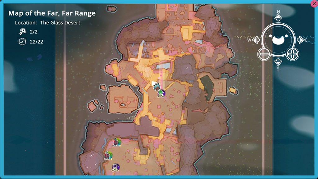 Glass Desert Map Node location - All Map Nodes in Slime Rancher
