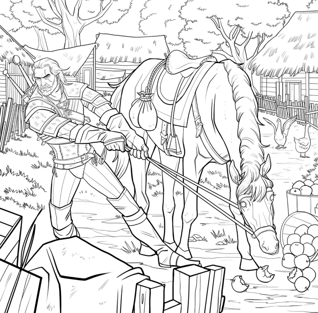 The Witcher Gets Adult Coloring Book Adaptation