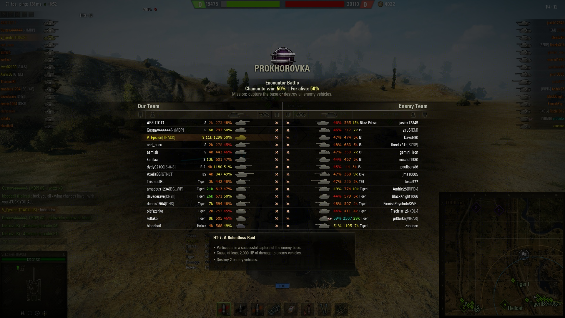 An example of the Matchmaker a few years ago, with a lone Tier 6 Hellcat in an entirely Tier 7 game.