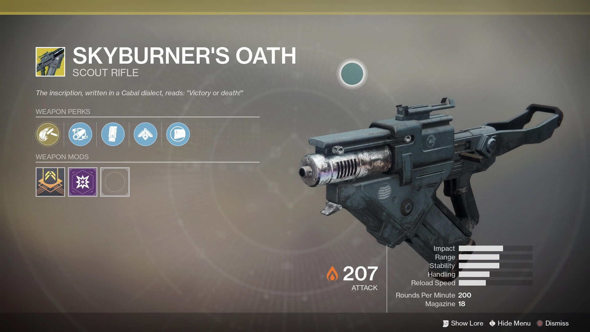 For the first time, players can get their hands on an Exotic version of a Cabal weapon.