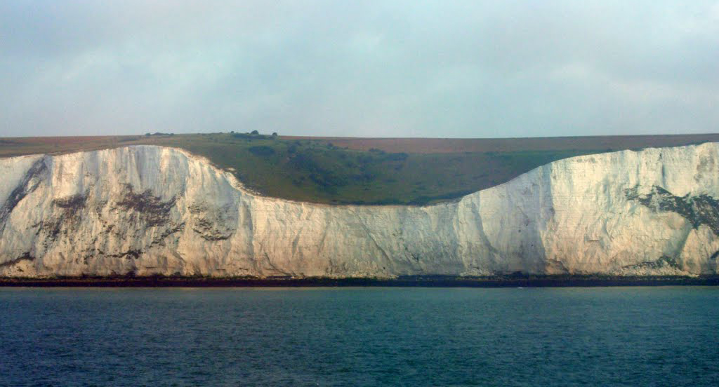 The White Cliffs of Dover can be seen from the beaches of France, and were a visual goal for those men stranded on Dunkirk.