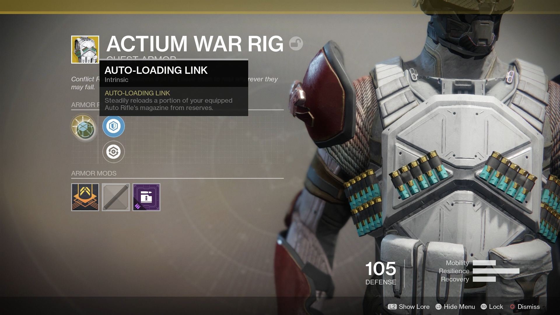 Actium War Rig Exotic Perk Auto Loading Link