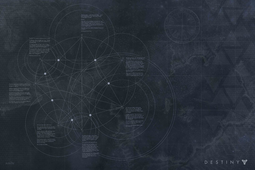 Every dot, vertex, line, and circle lines up with something in Destiny, especially in the Vault of Glass.
