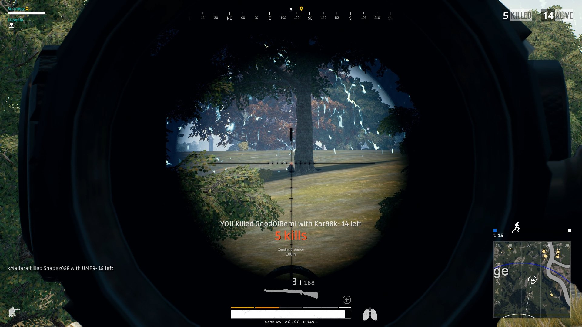 Sniping people at a distance is easy if they're out in the open, because the grass stop rendering at long ranges.