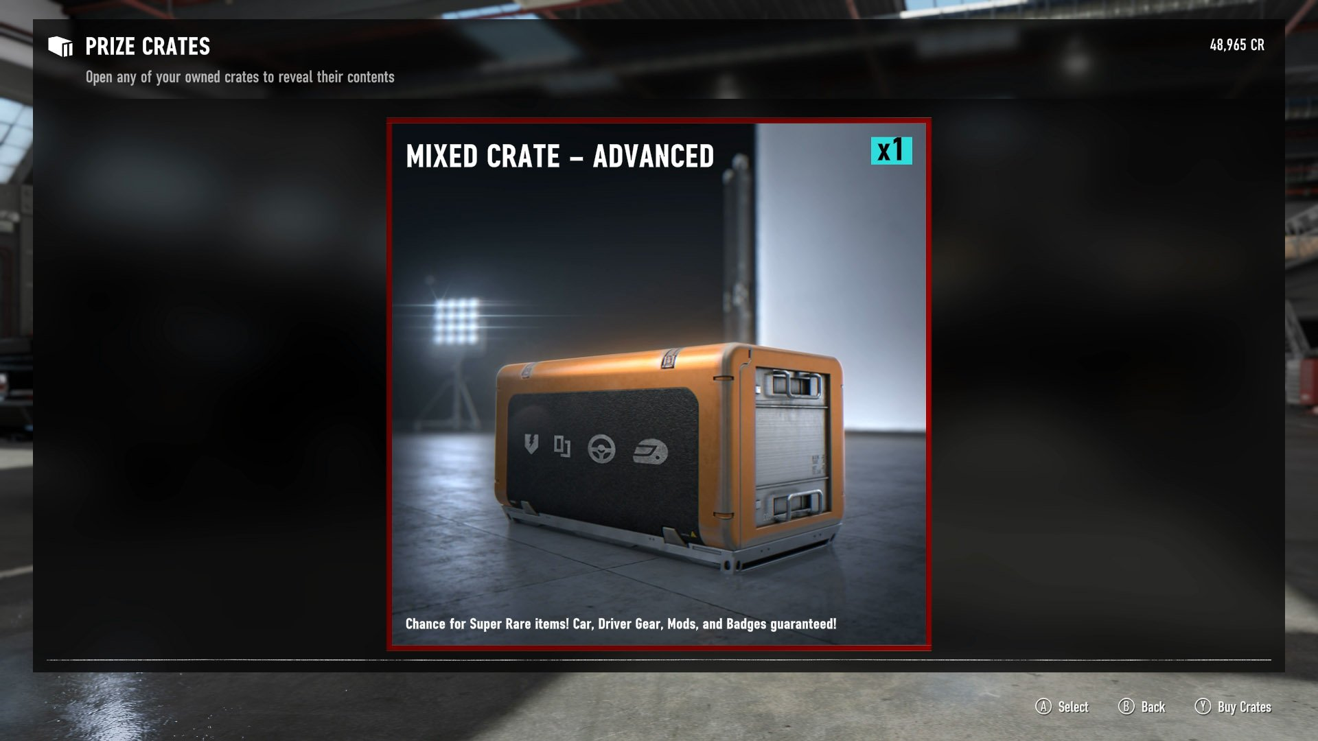 Loot crates contain mods, as well as other vehicles and driver cosmetics.