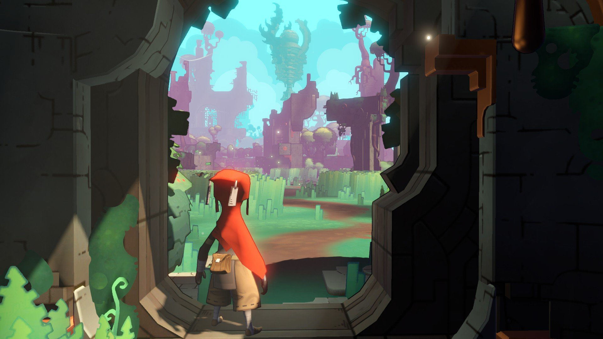 You're thrown immediately into the stunning world of Hob as soon as you press start.
