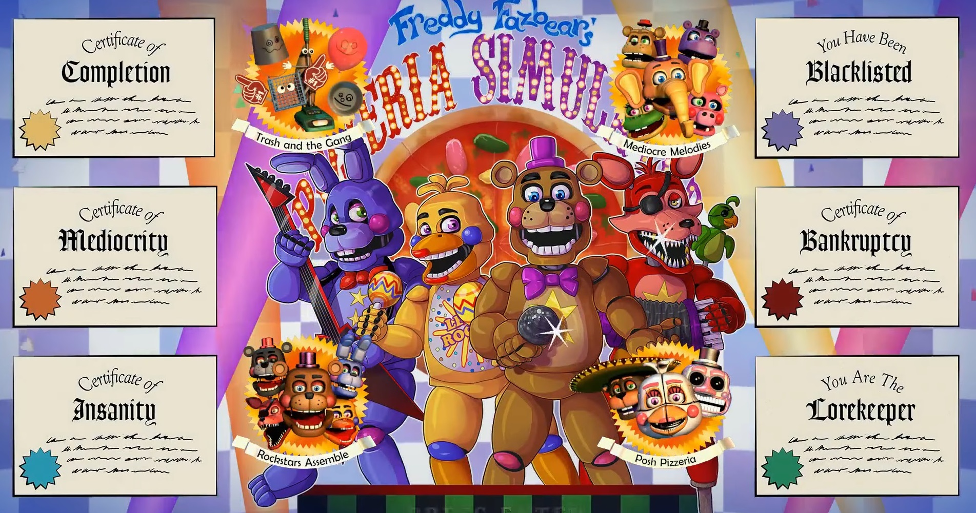 How To Get All Certificates In Freddy Fazbear S Pizzeria Simulator