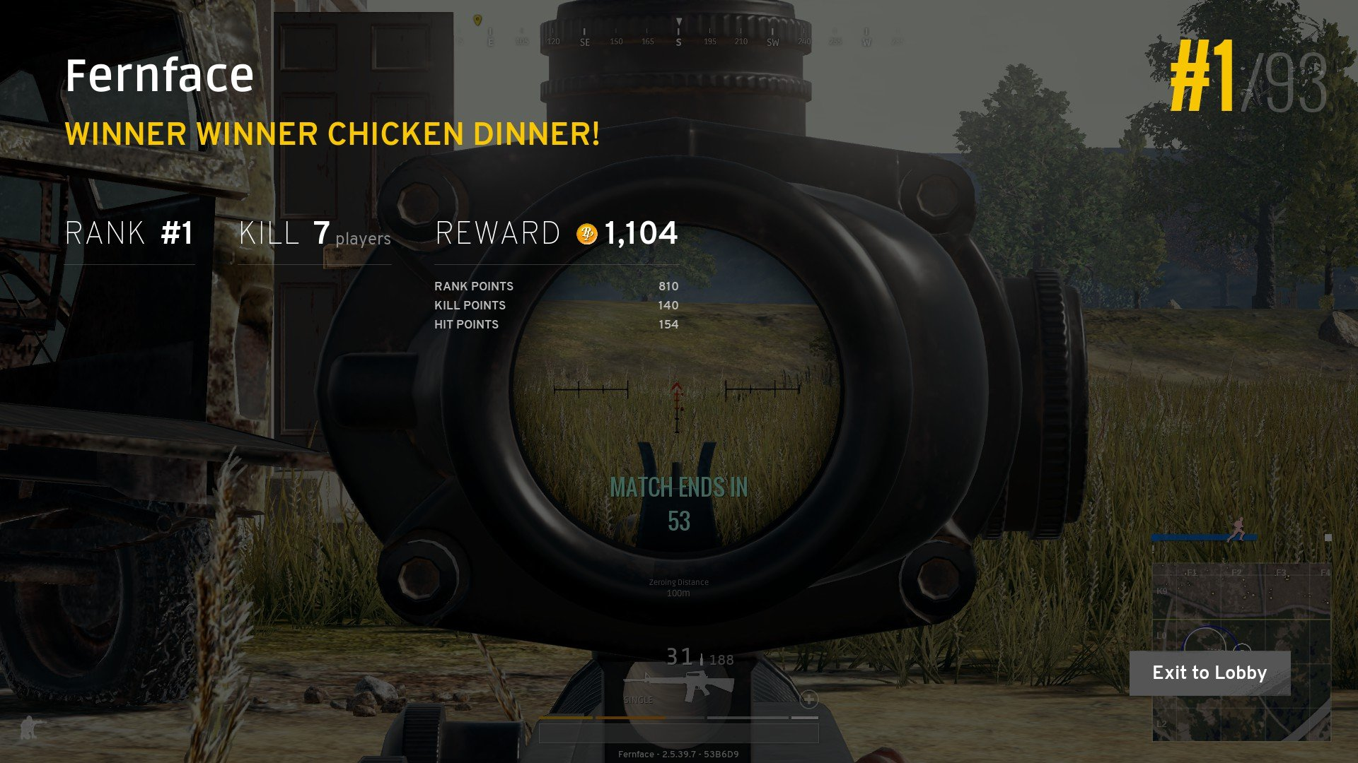 What we're all here for: That tasty chicken dinner.