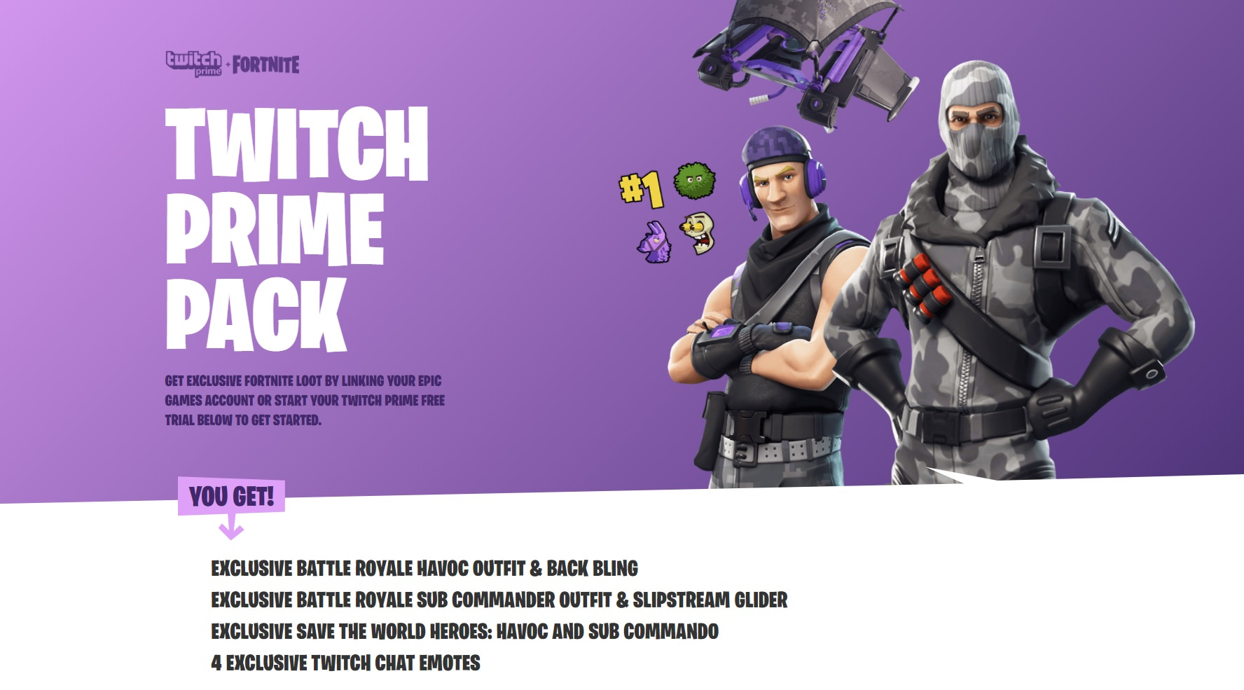 Fortnite Offering Exclusive Twitch Prime Items | AllGamers