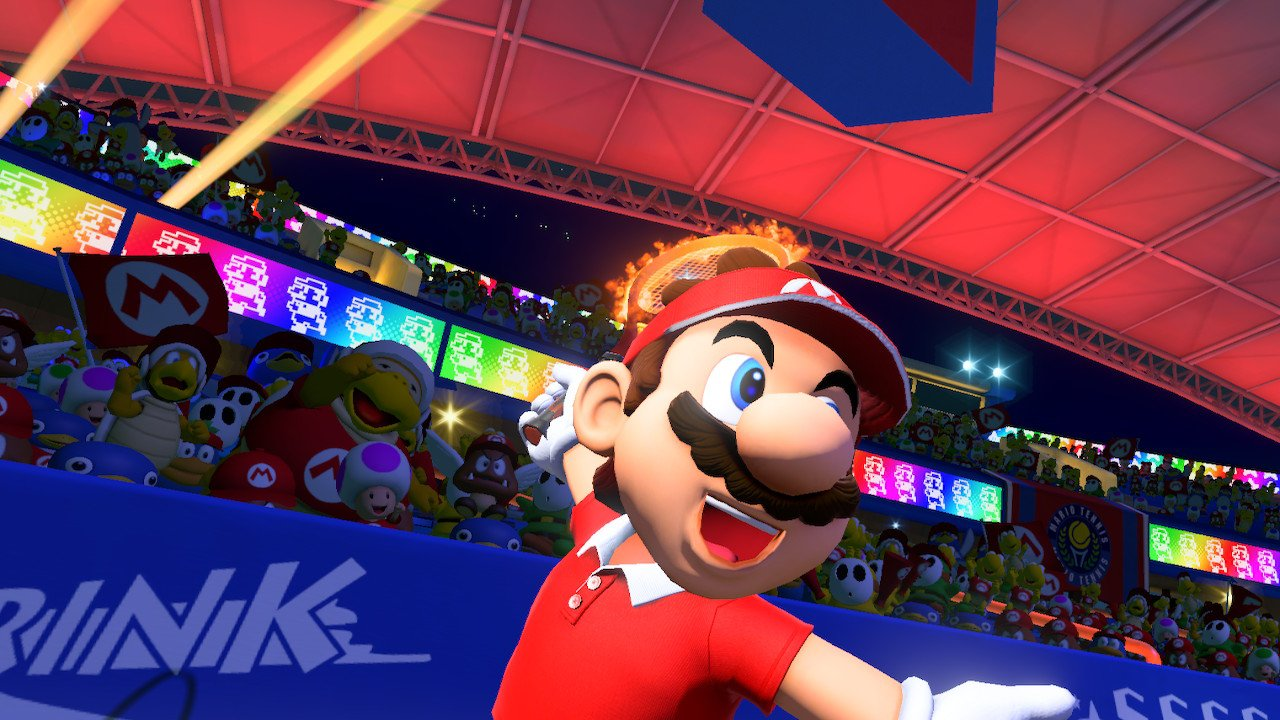 Mario makes a flashy entrance for our Mario Tennis Aces Tier List