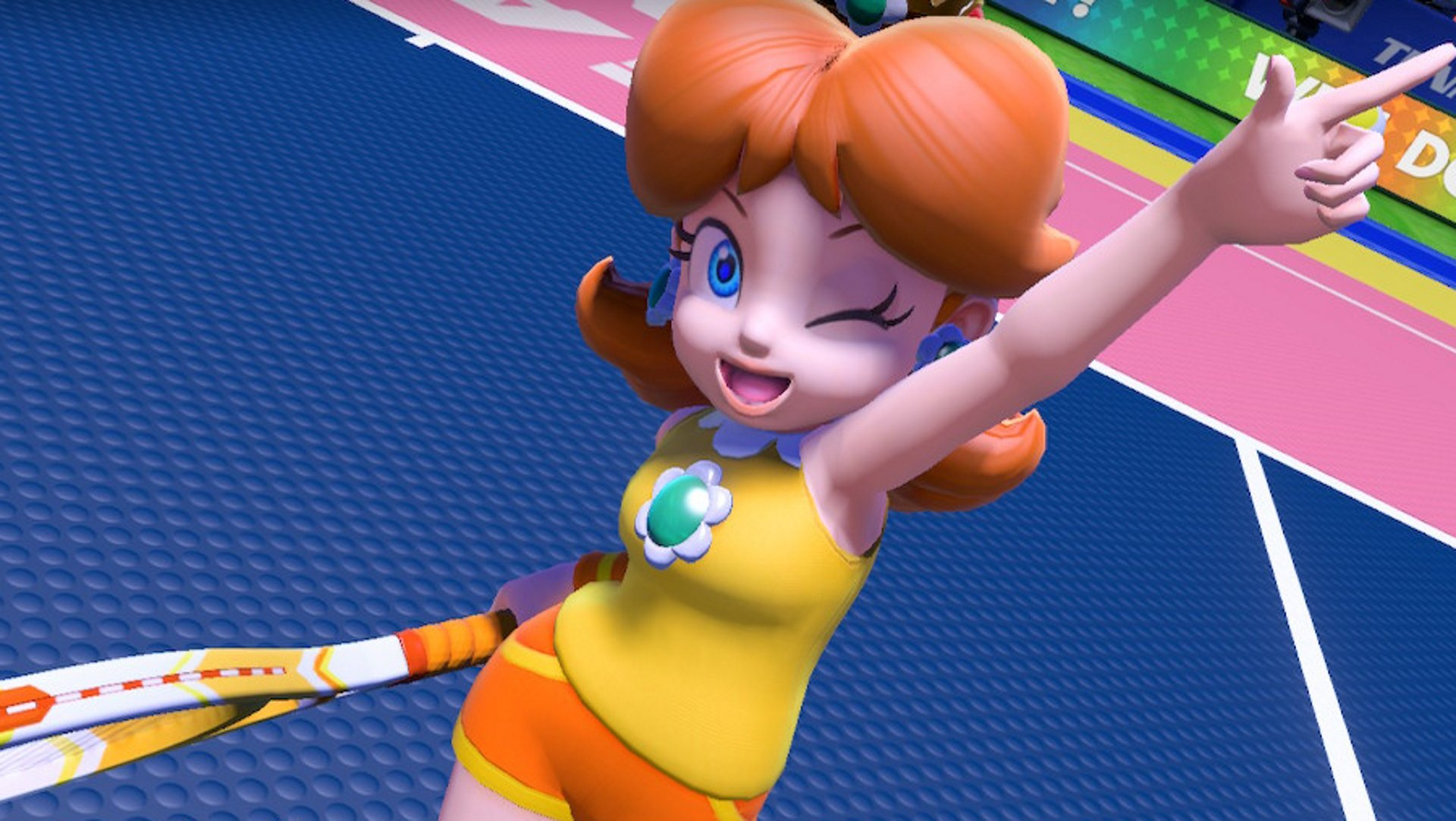 Daisy smiles for the Mario Tennis Aces Tier List