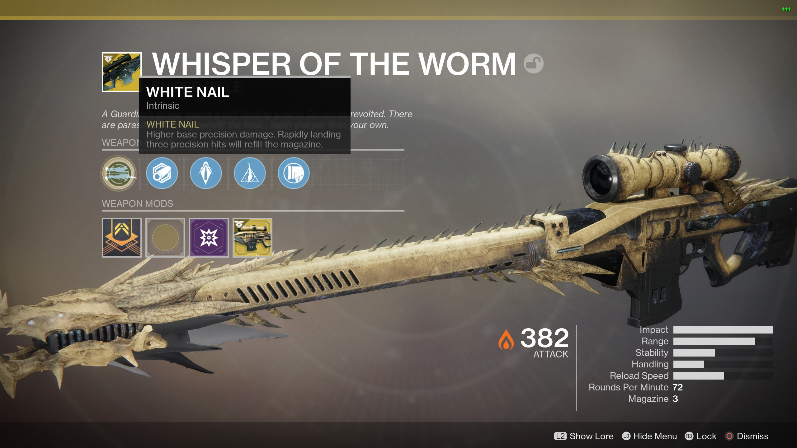 The new exotic sniper rifle © Bungie