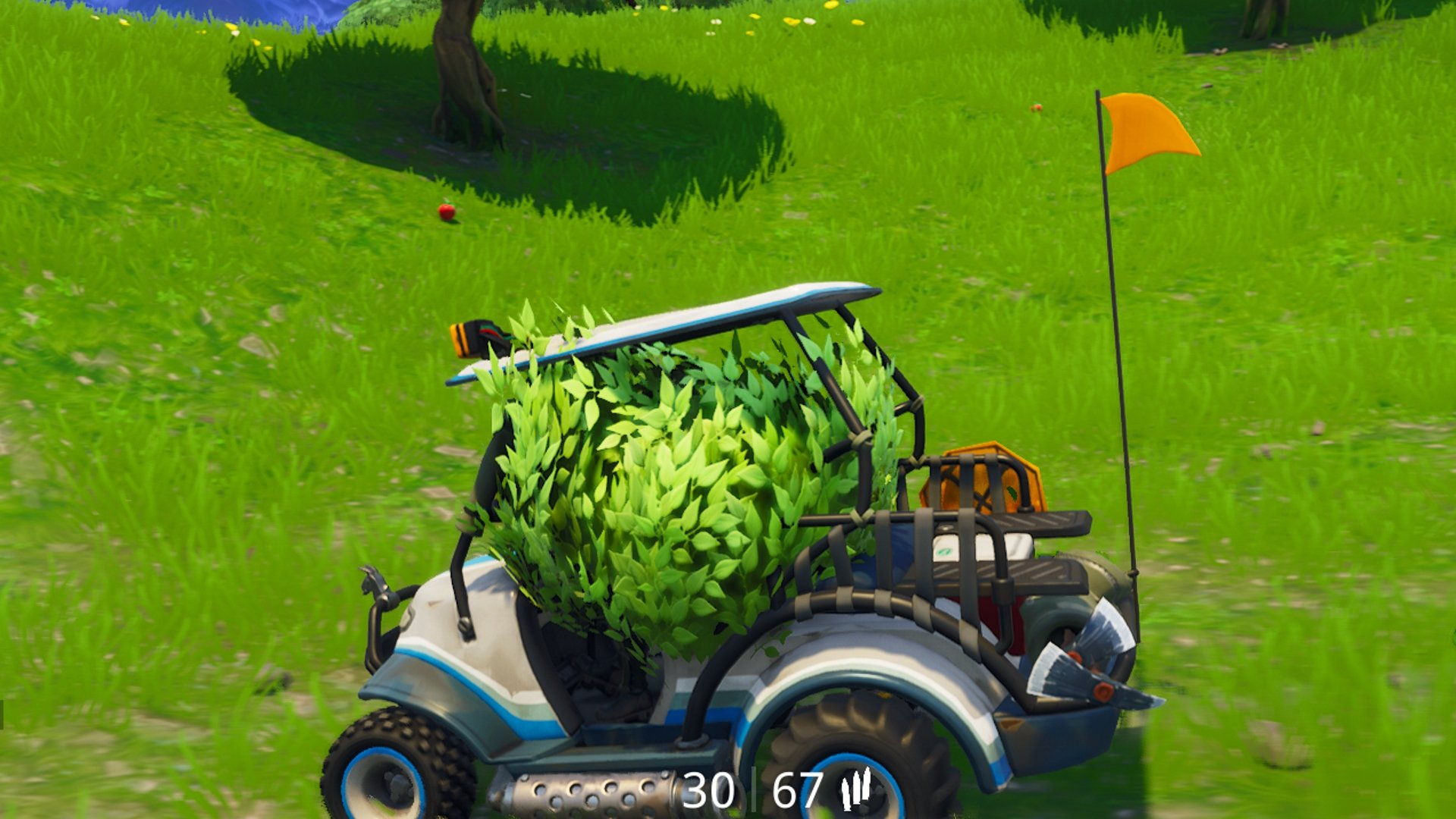 Nothing to see here, just a harmless bush driving a golf cart © Epic Games