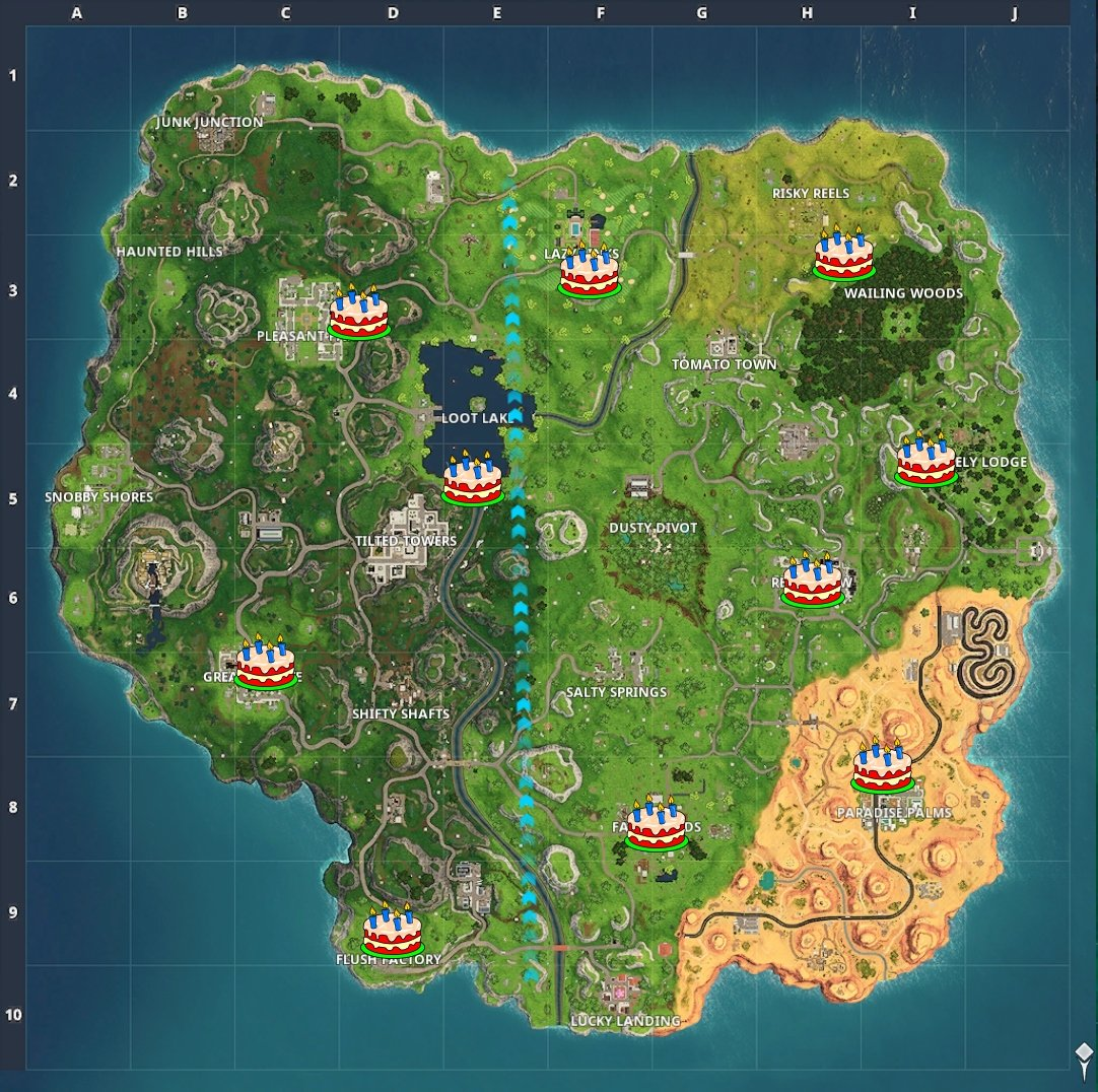 All 10 cake spots © Epic Games