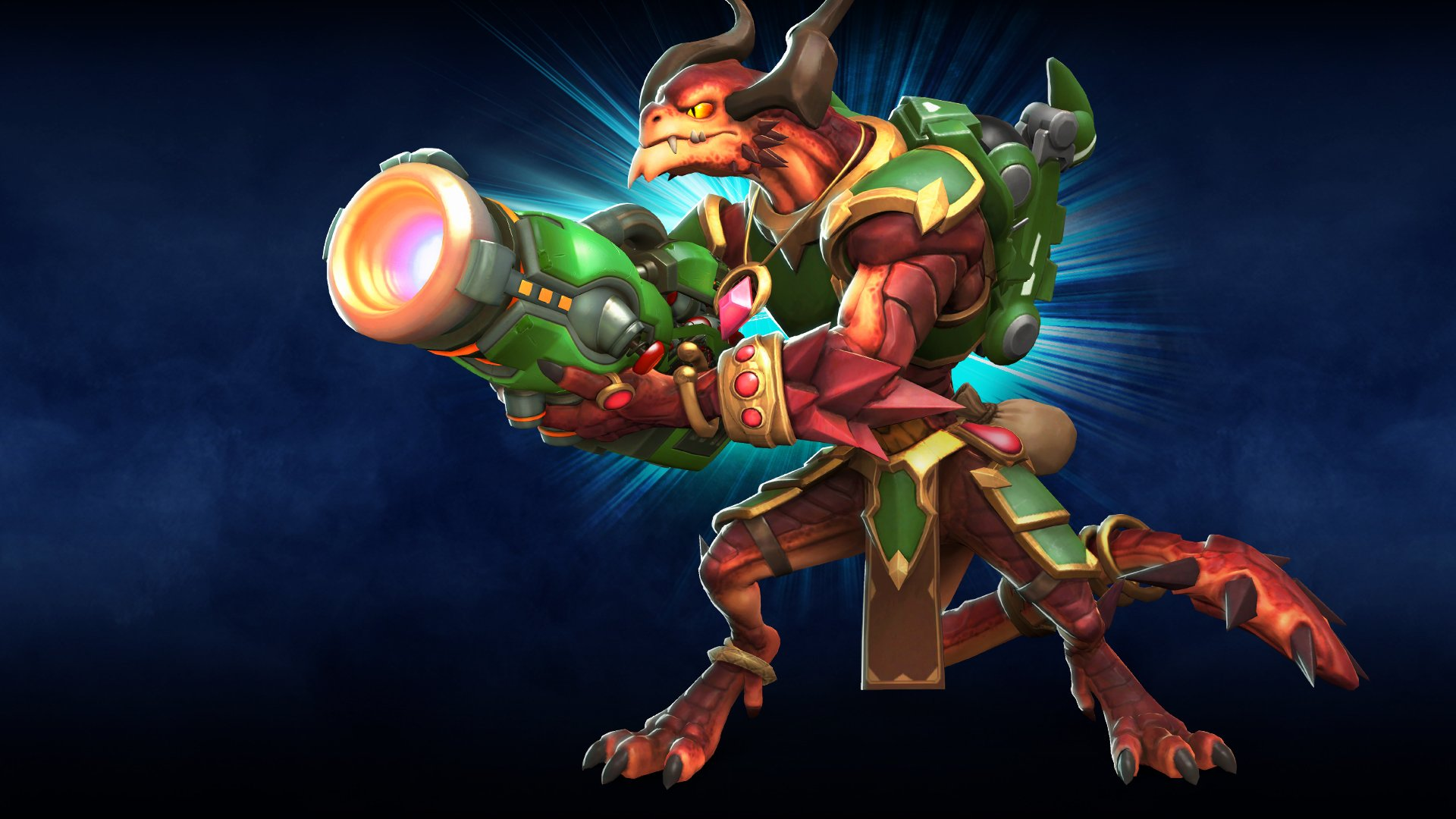 Drogoz holds his weapon. The best paladins champions to pick in each class