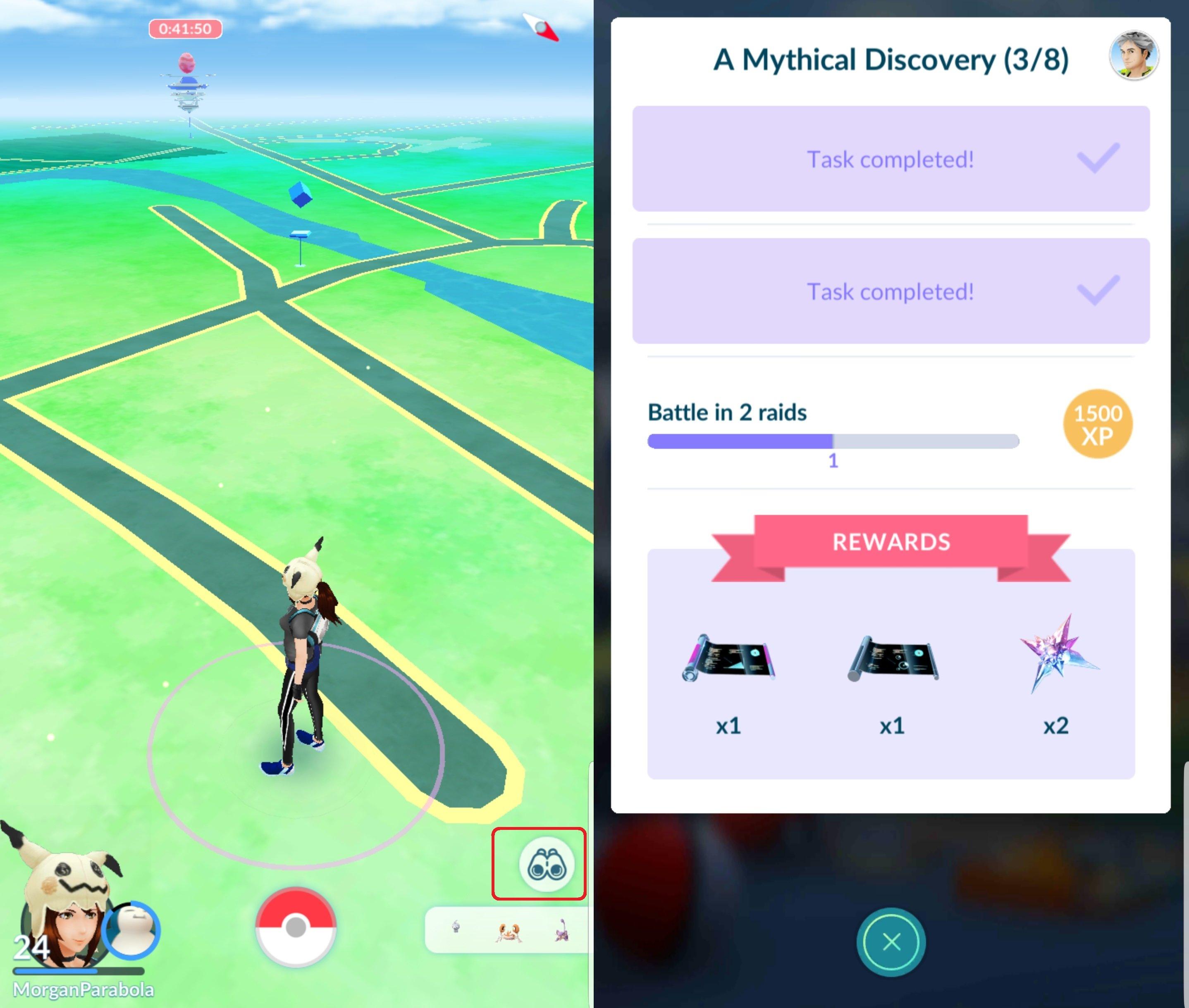 pokemon go mythical discovery