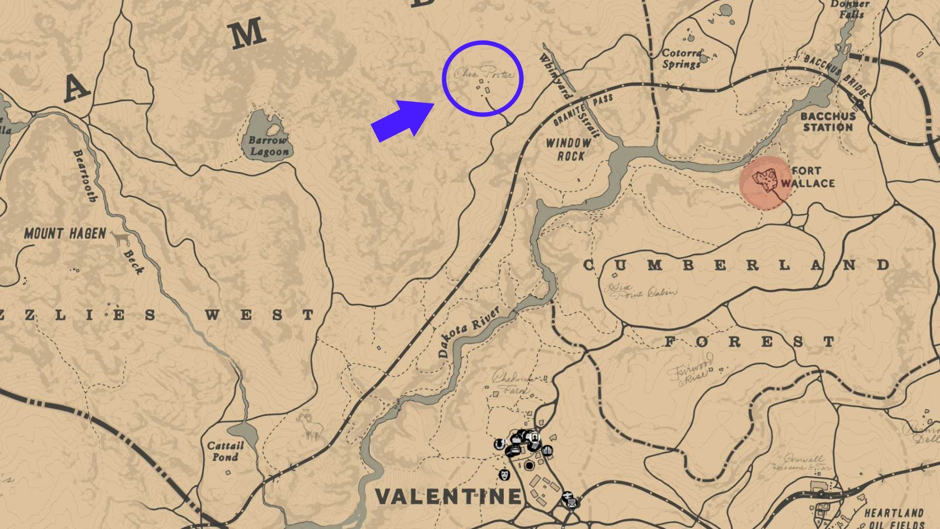 The weapon location - Where to find the pump action shotgun in RDR2