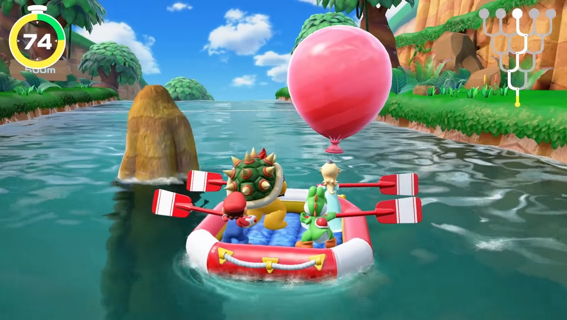 Don't you dare touch that paddle, Peach! © Nintendo