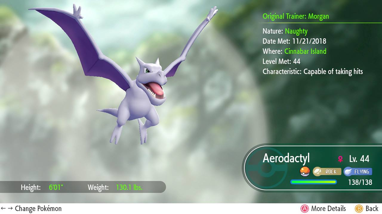 where to get aerodactyl in pokémon let s go allgamers