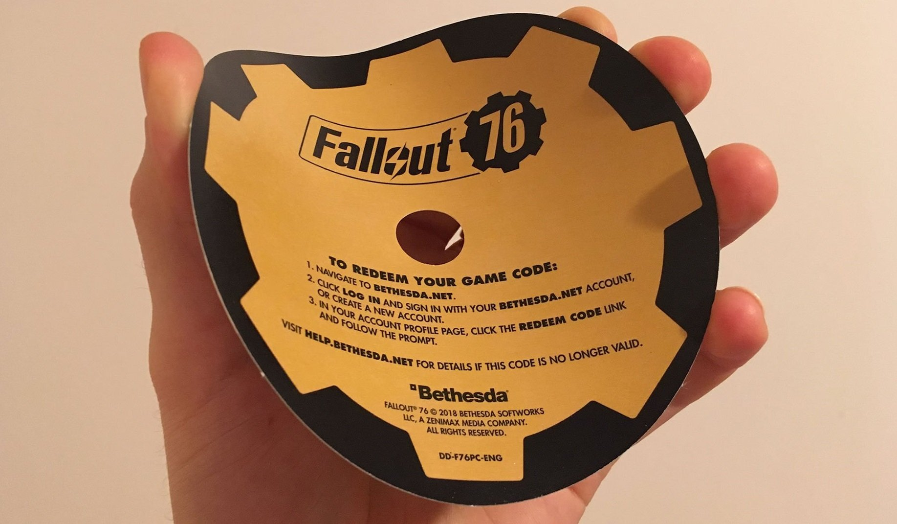 Physical copies of Fallout 76 on PC include cardboard disc | AllGamers