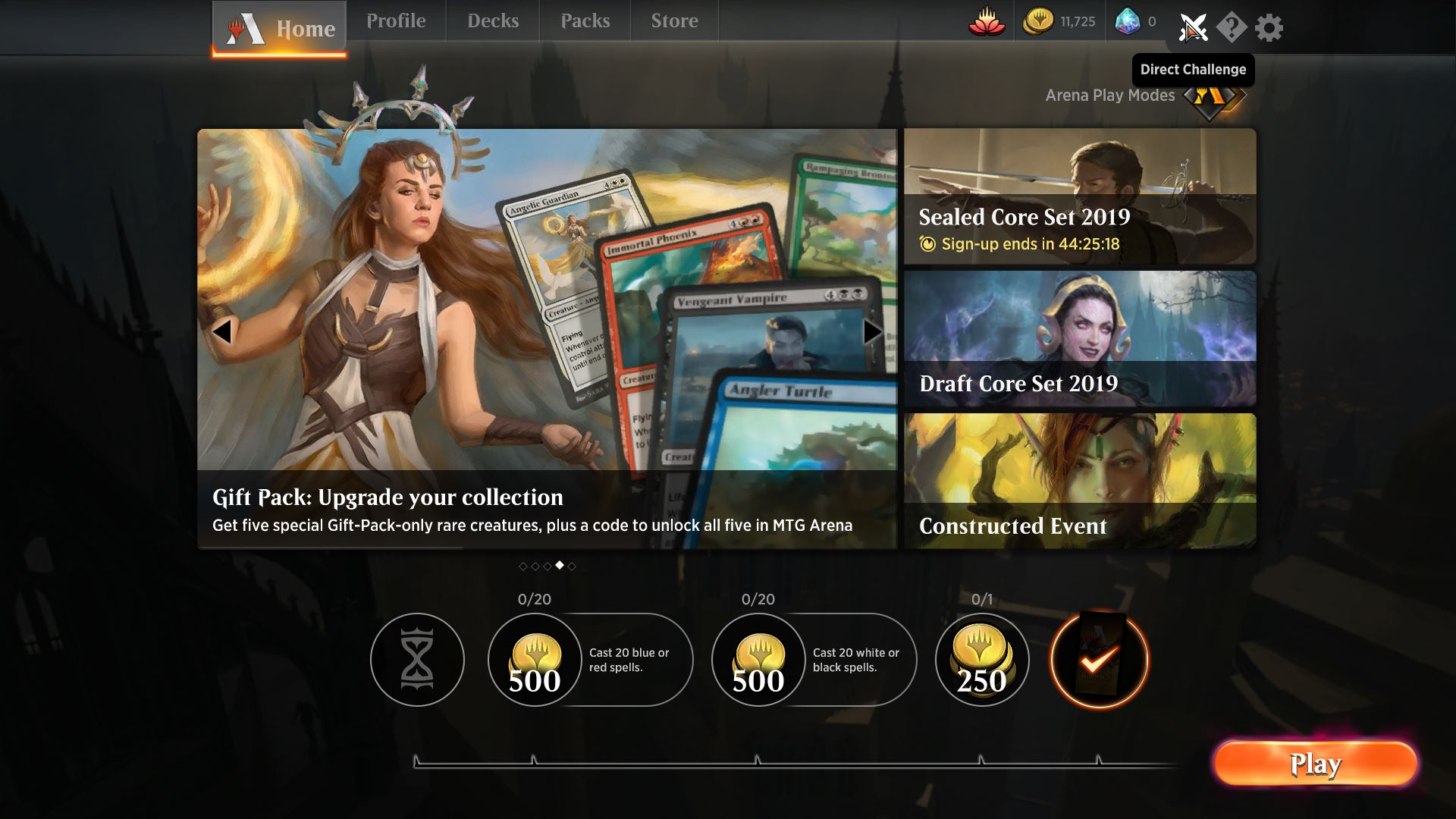 How to use Direct Challenge in Magic: The Gathering Arena