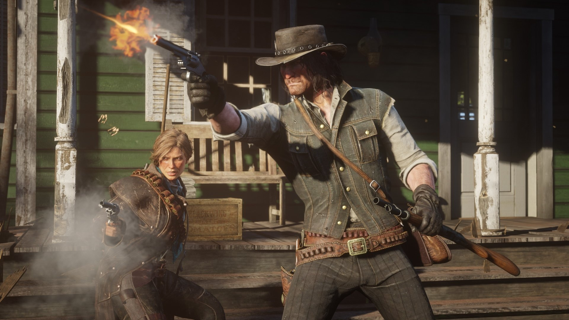Sadly you can't bring a pal to back you up in a duel. © Rockstar Games