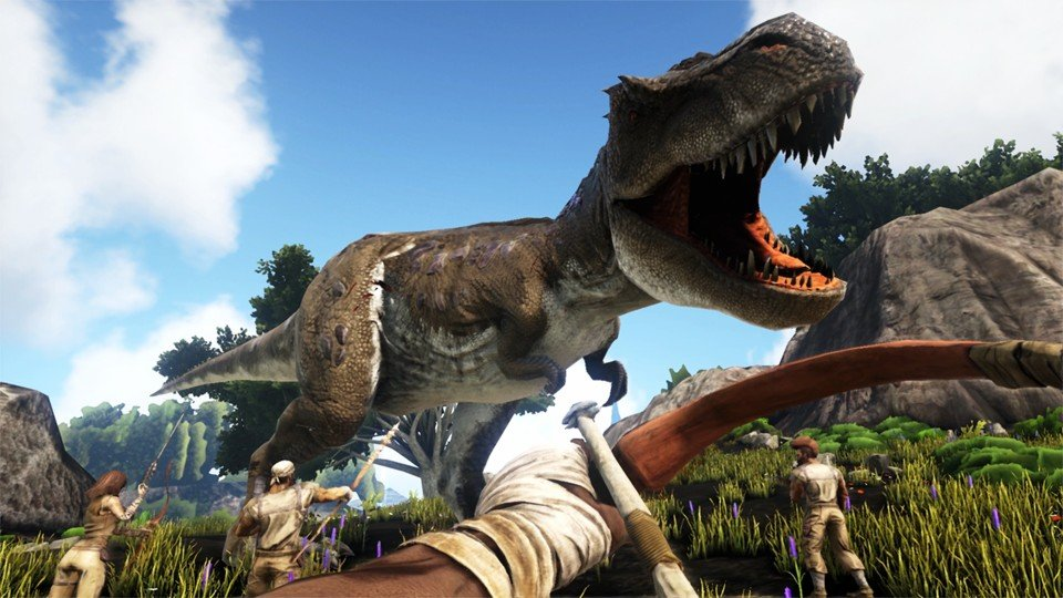 A T-Rex ARK: Survival Evolved Base Building Guide