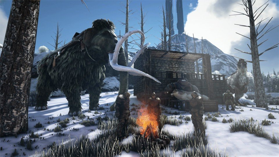 A Mammoth. ARK: Survival Evolved Base Building Guide
