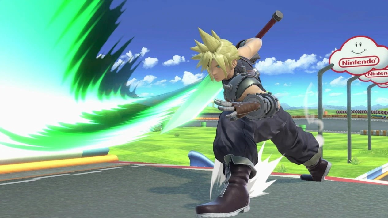 Cloud swings his sword How to unlock Cloud in Super Smash Bros. Ultimate