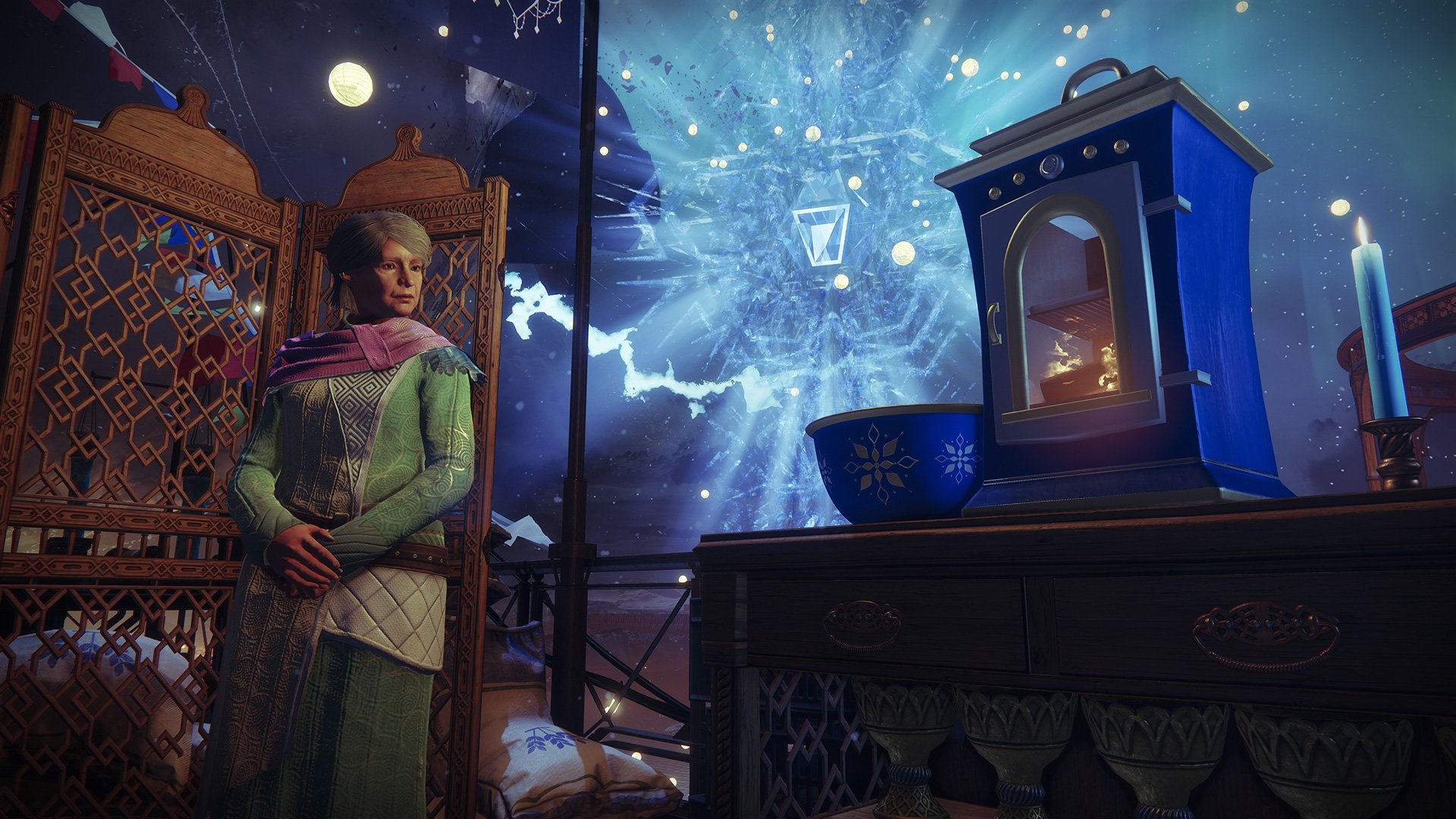 Eva stands next to her oven used for the Dawning Holiday Baking Recipes