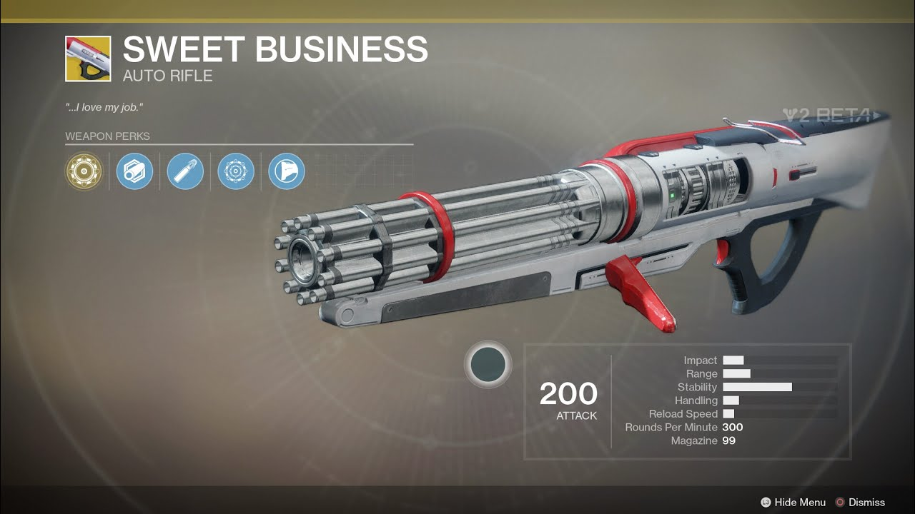 Sweet Business auto rifle in Destiny 2