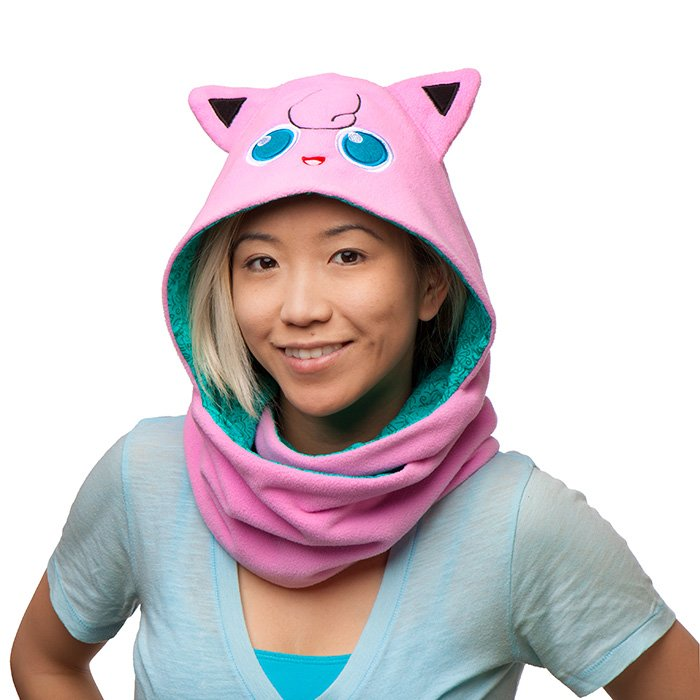 Pokemon Jigglypuff reversible scarf