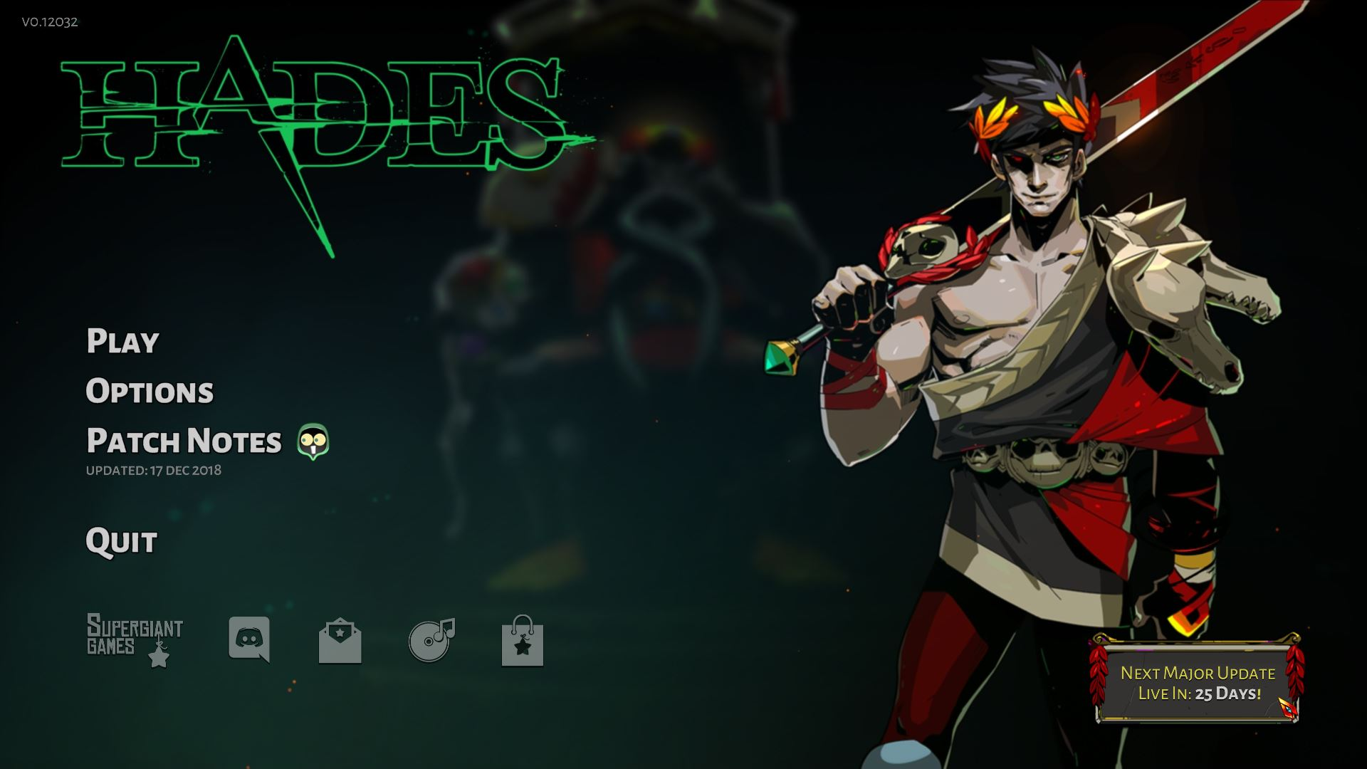 Next major update for Hades