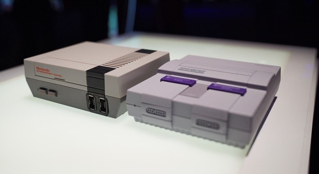The NES and SNES Classic consoles from Nintendo
