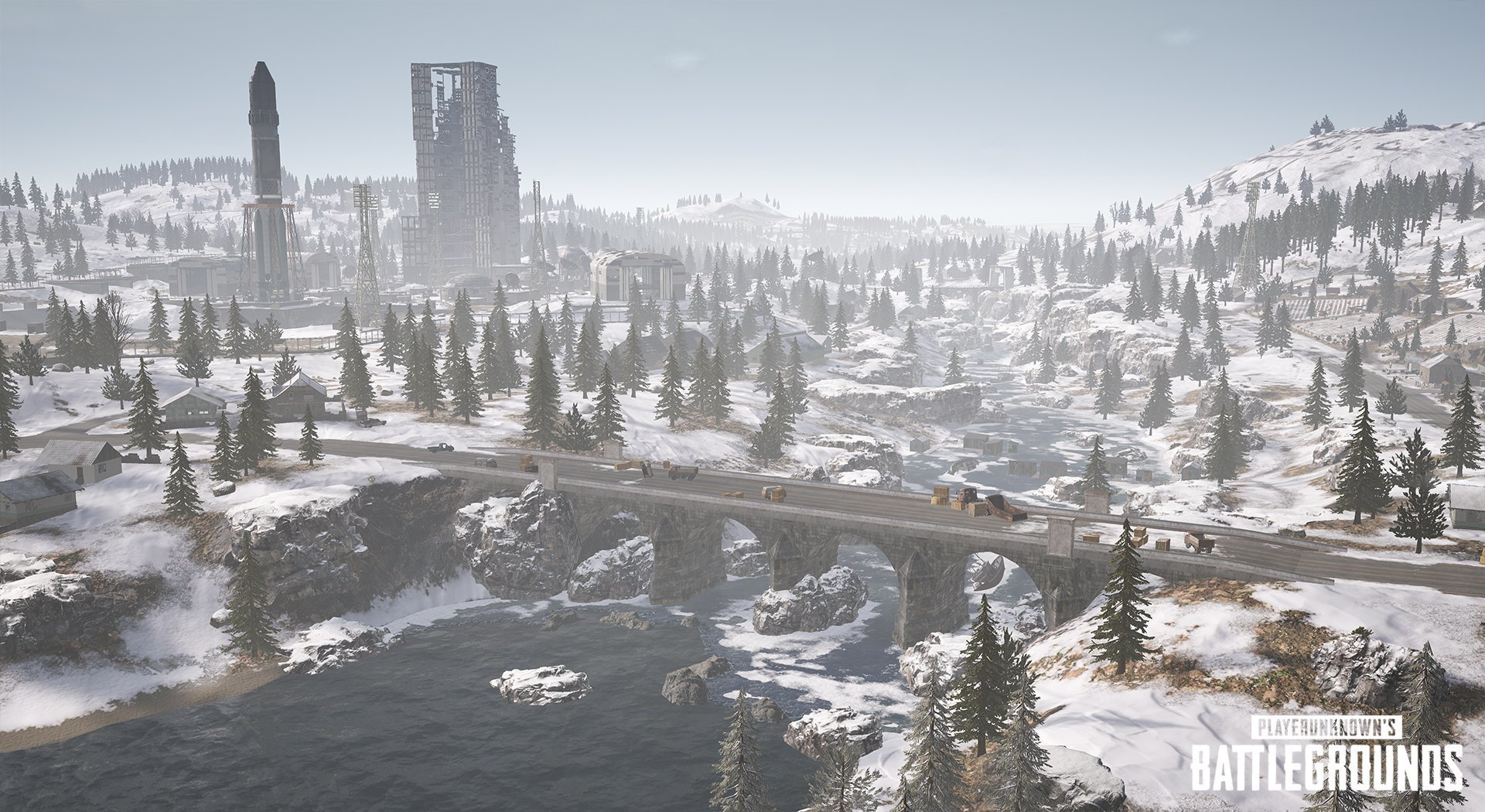 Vikendi winter map in PlayerUnknown's Battlegrounds