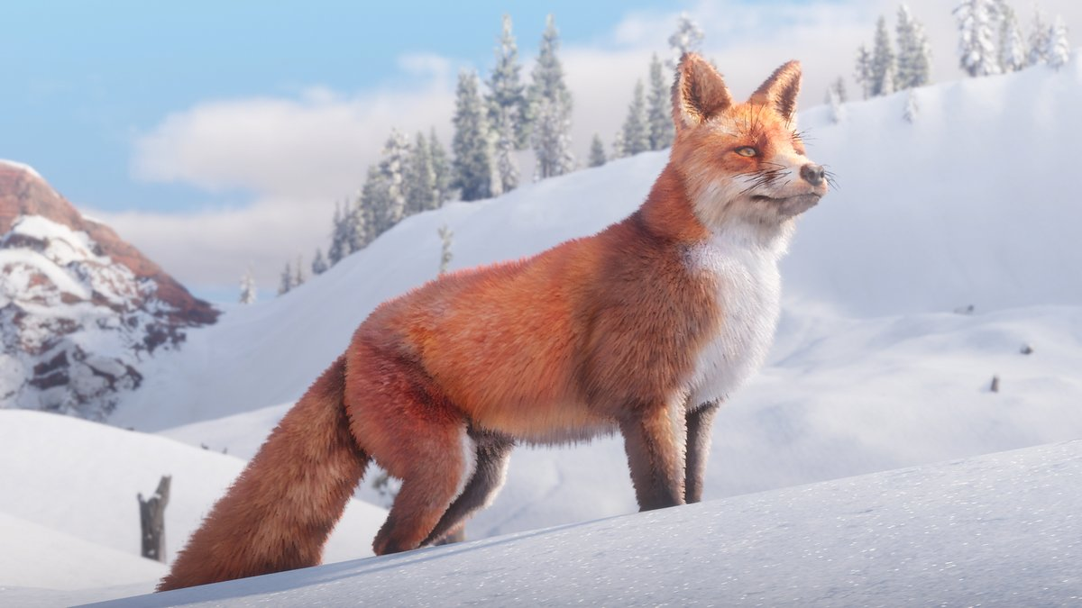 A fox stand in the snow in RDR2 - New Year's gaming resolutions