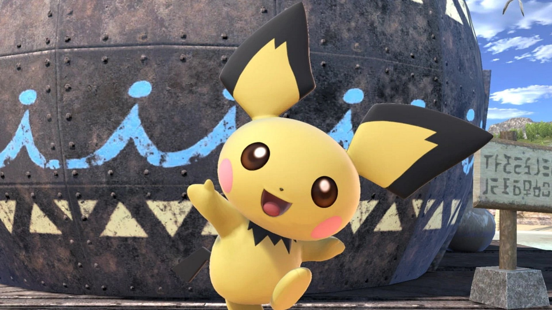 Pichu smiles adorabley in Ultimate. How to get Pichu in Super Smash Bros Ultimate