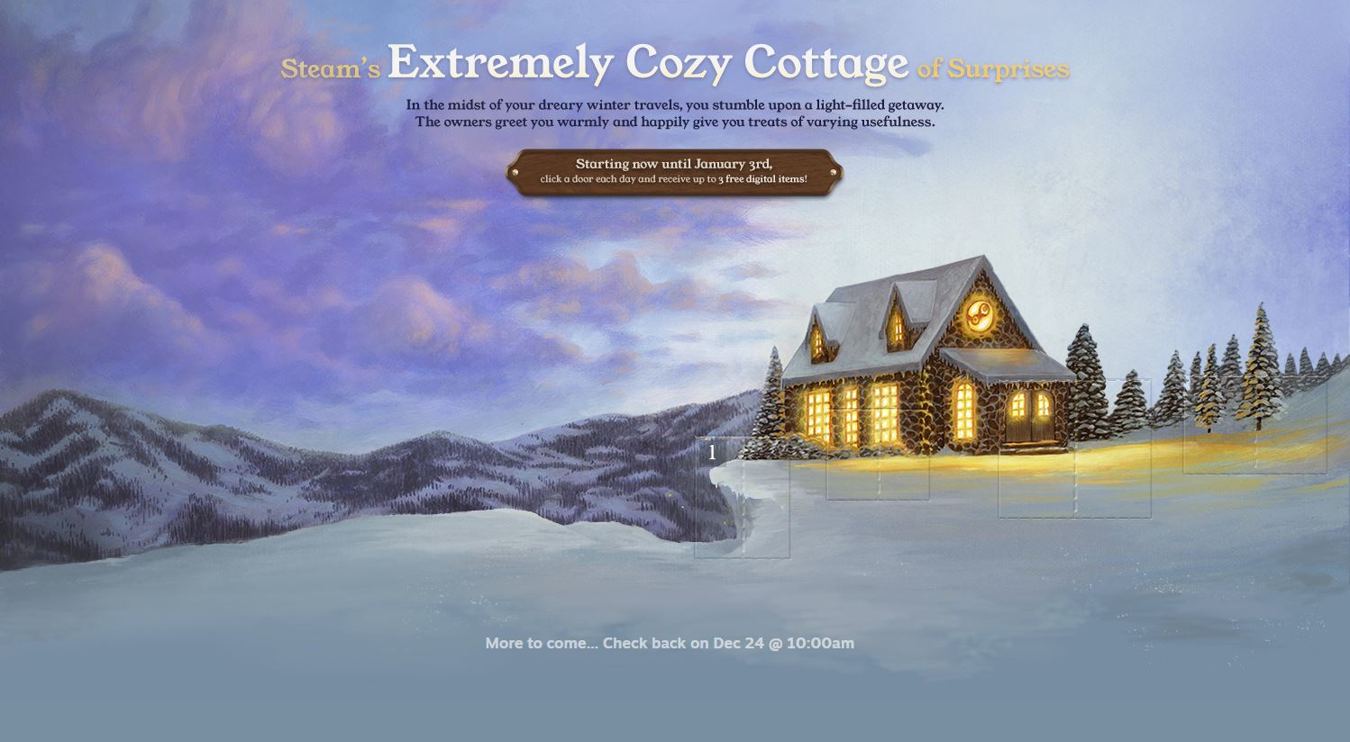 Extremely Cozy Cottage feature of Steam