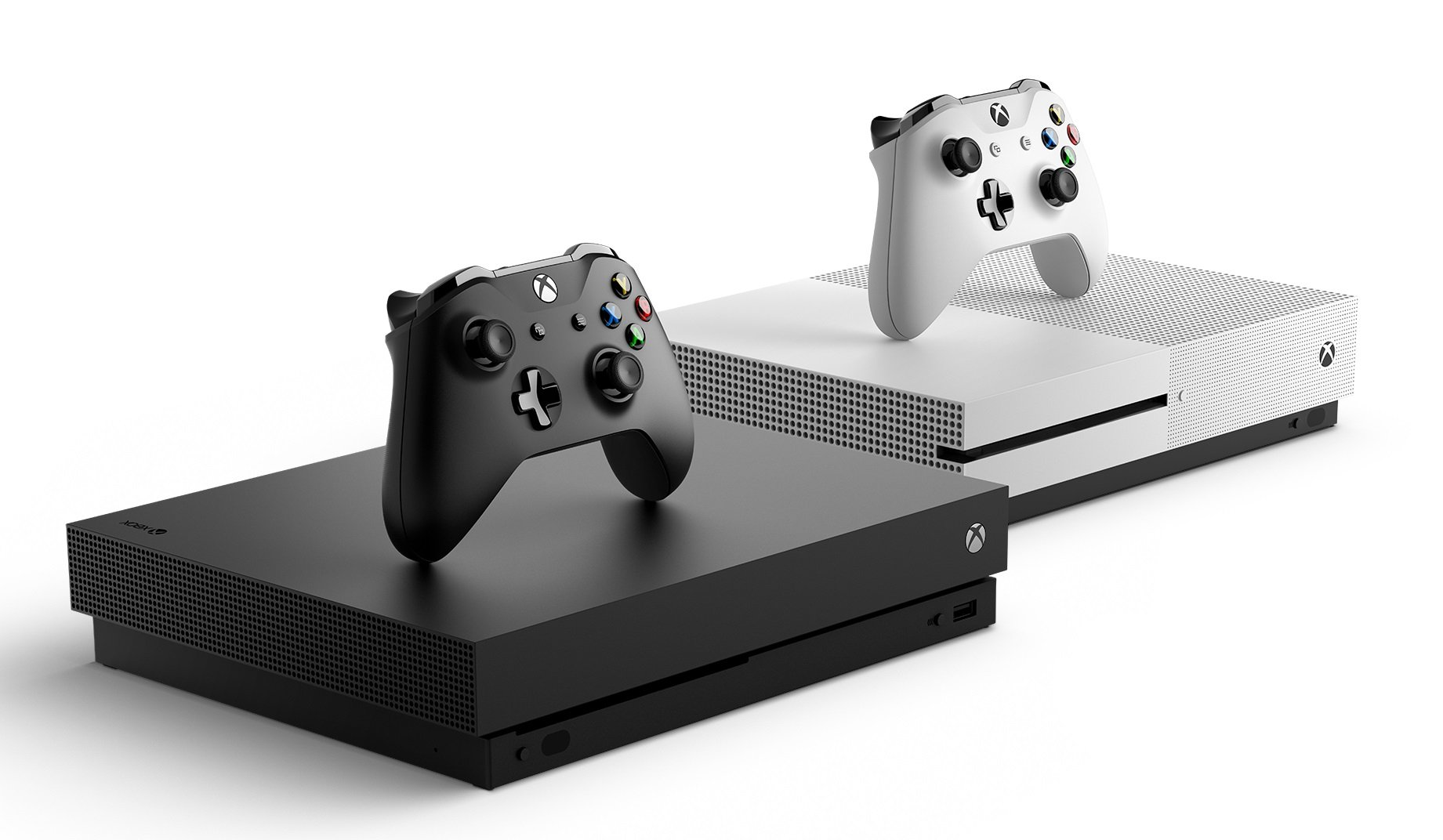 Xbox One S and Xbox One X