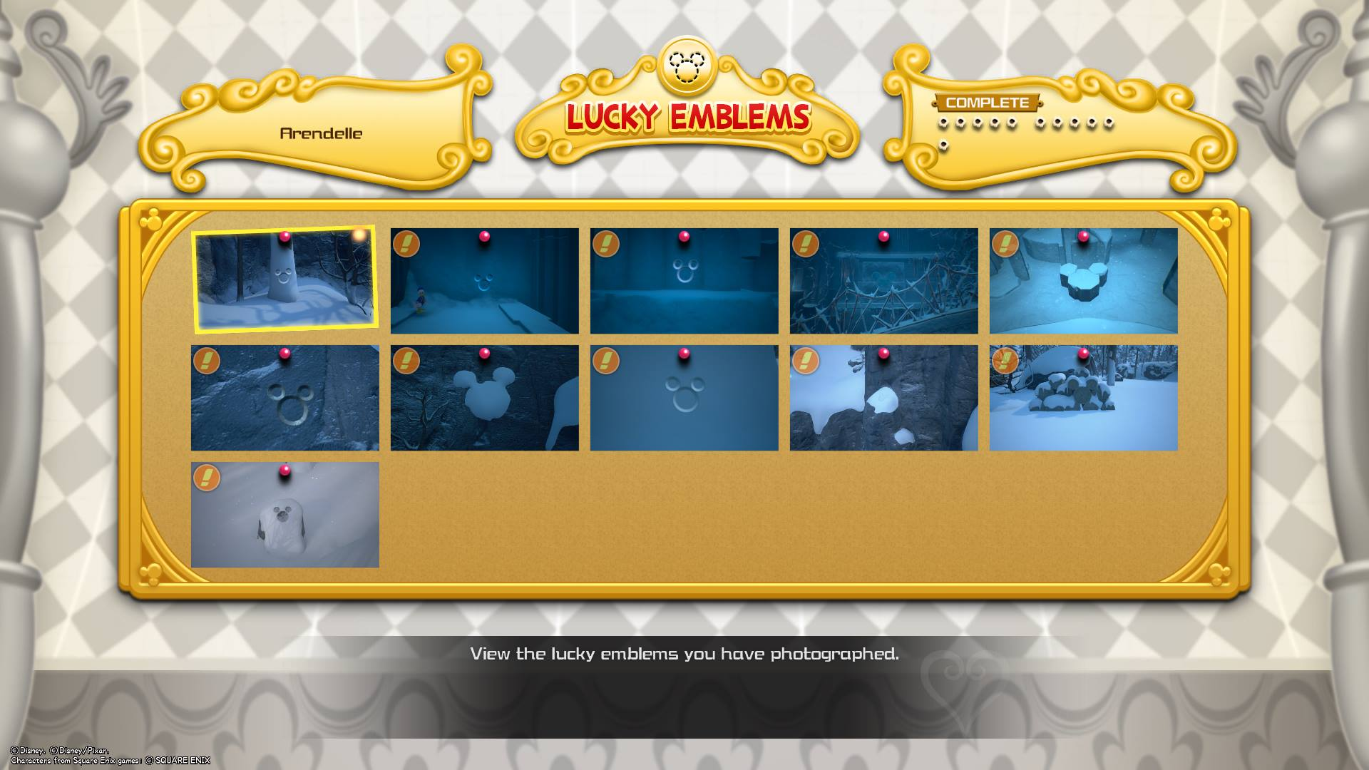 There are 11 Lucky Emblems in the Arendelle world of Kingdom Hearts 3.